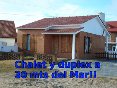 Espectacular Chalet Y 3 Duplex A 30 Mts Del Mar!!!