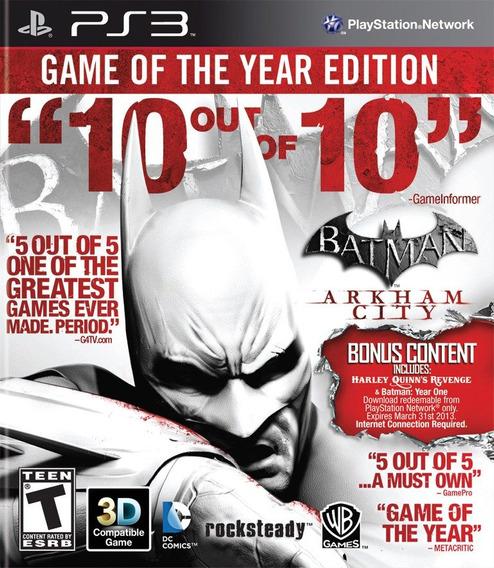 Batman Arkham City Goty - Mídia Digital Original