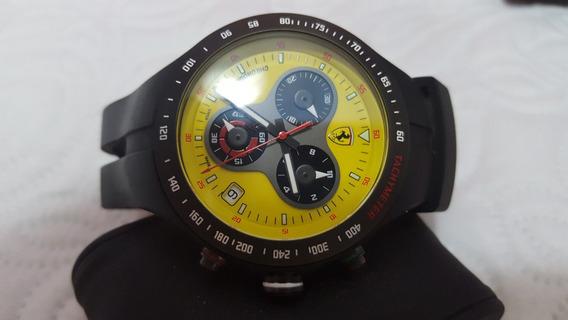 Relógio Scuderia Ferrari De Luxo Jumbo Suiço 100% Original!!