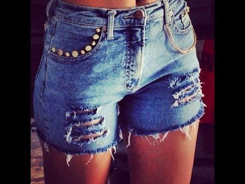 Jeans Feminino Short Lycra Kit C/3 Bermuda Rasgado Plus Size