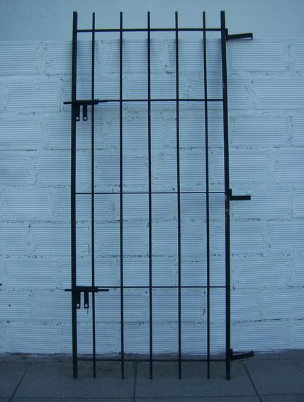 Puerta Reja De Hierro Redondo Del 12 Y 2 Pasadores