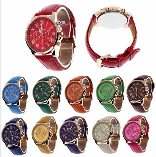 Promoção Relógio Feminino Geneva Á Pronta Entr. Dia Das Mães