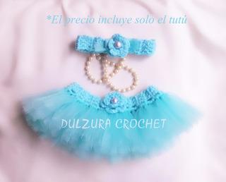 Tutú Falda Ballet Bebita Niñas Tejido Crochet Disfraz Regalo