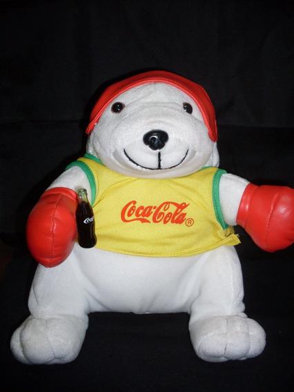 Boneco Pelúcia Urso Boxeador Lutador Coca Cola Ler Texto 18@