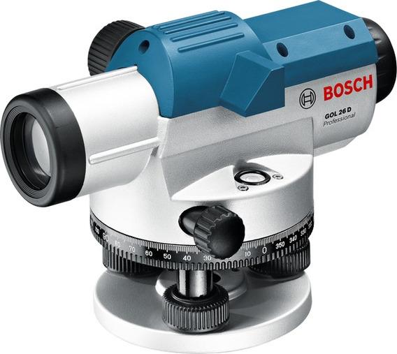 Gol 26 D Nivel Topografico 26x Bosch (paq Tripie Y Estada