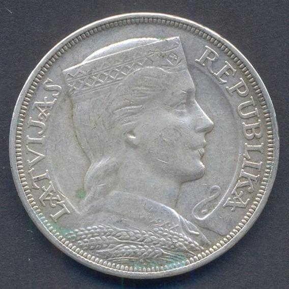 Guardia Imperial - Letonia 5 Lati 1929 Plata 25,0 Gr.