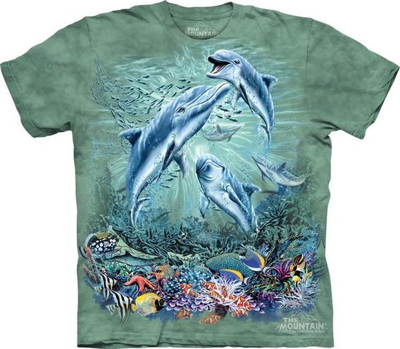 Playera 4d - Unisex Infantiles - 3490 Find 12 Dolphins.