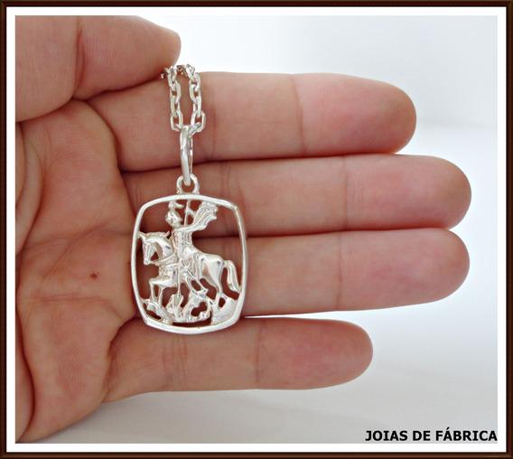 Pingente São Jorge Em Prata 950