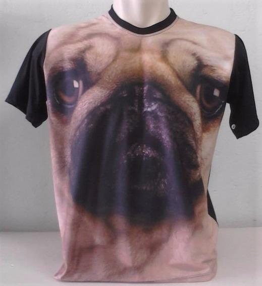 Camiseta, Regata, Baby Look - Raça, Cachorro, 3d - Pug