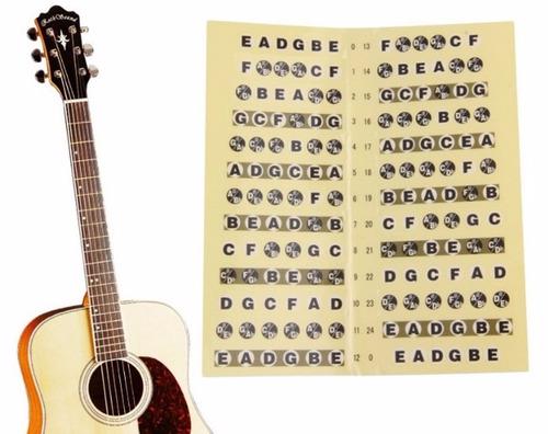 Adesivo Escala Marcador De Notas Para Violão E Guitarra
