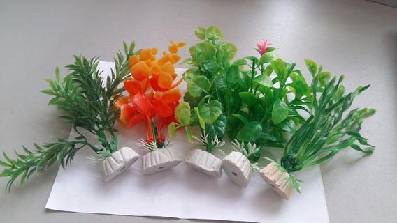 Planta Artificial P/aquários 12cm - Pct C/ 6 Unidades!!!
