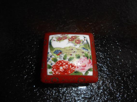 Pequeno Porta Jóias De Porcelana Japonesa