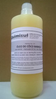 Óleo De Côco Babaçu 1 Litros + 1 Kg Bicarbonato Sódio