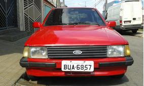 Ford Escort Gl Motor 1.6 Cht Álcool Cor Vermelha Ano 84