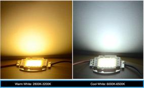 10x Leds 20w Led Chip 36v Branco Quente - Reposição Refletor