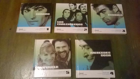 Lote 4 Cd,s Mas 5 Libros Coleccion Clarin - Sandro Envios!!