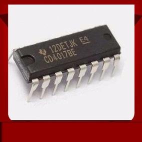 4 X Cd4017 Cd4017be Nte4017b Cmos Contador,divisor,circuitos