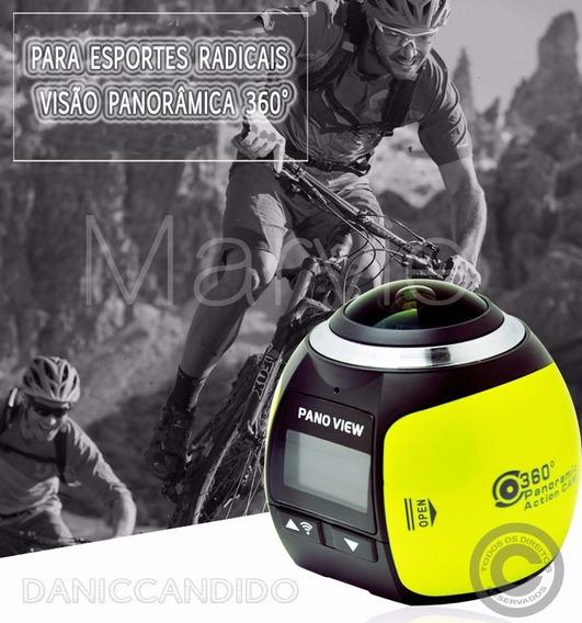 Nova Cãmera 360° + Cartão Sd 64 Gb + Óculos Vr Max 3d