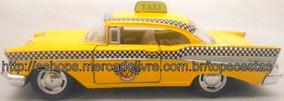 Miniatura Carro Carrinho Chevrolet Bel Air Taxi 1957 1/40