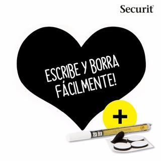 2 Pizarra Acrílica De Pared Figura Corazón Marca Securit