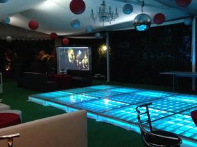Renta De Pista Baile Iluminada De Cristal Salas Dj Karaoke