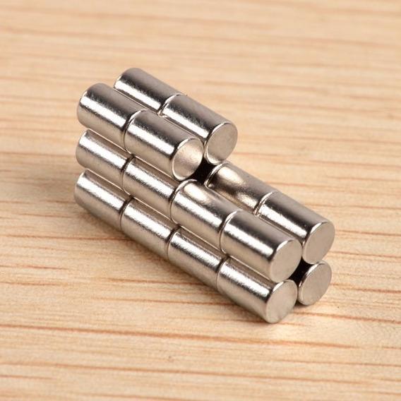 Imanes Neodimio -ndfeb 6x10 Cilindrico N52 5 Unidades