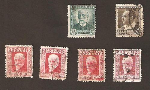 Estampilla España 1931-1934 Celebridades Y Monumentos
