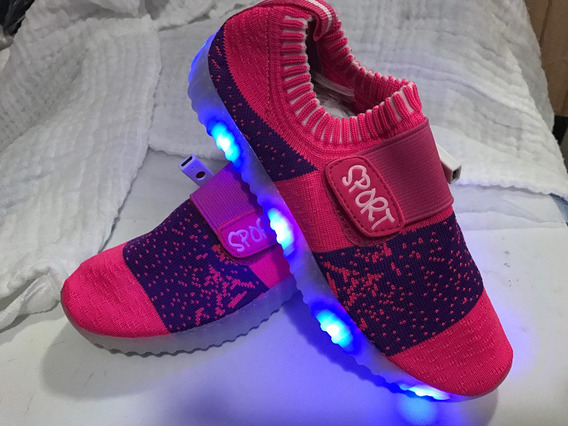 Tenis Led Luz Multicolor Recargables