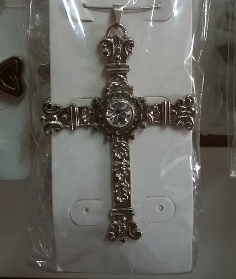 Colar Crucifixo - Cruz Aço Inoxidável + Corrente