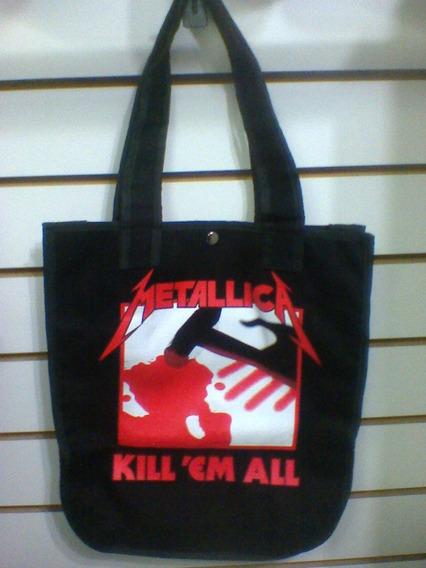 Bolsa Metallica Kill ´em All Brim 100% Algodão