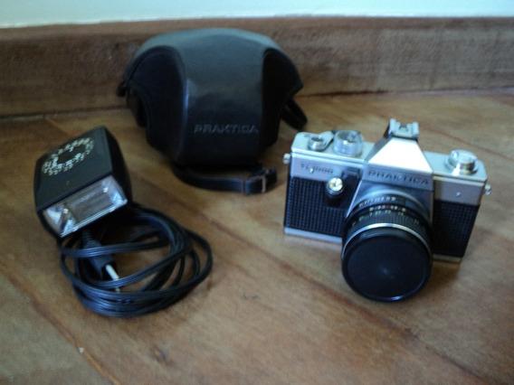 Camera Praktica Super Tl 1000 + Bolsa Couro Original