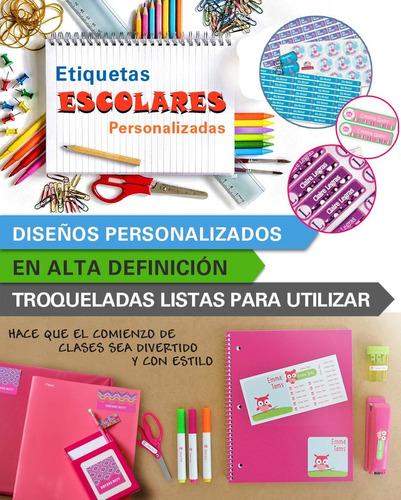 150 Etiquetas Ropa Utiles Escolares Planchables Uniformes Lavables Resistentes Al Agua Cuadernos Utensillos Stickers Etc