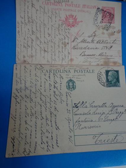 Lote 4 Entero Postales Antiguos Italia Holanda Suiza