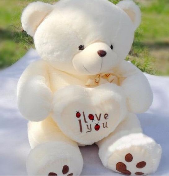 Urso De Pelúcia Grande 70cm Presente Namorados Amor Love You