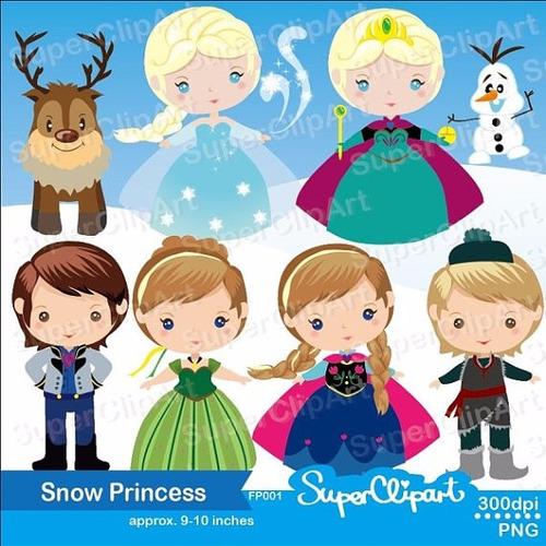 Kit Imprimible Frozen Imagenes Clipart Cod 5
