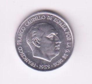 España 1959 Moneda De 10 Centimos Sin Circular