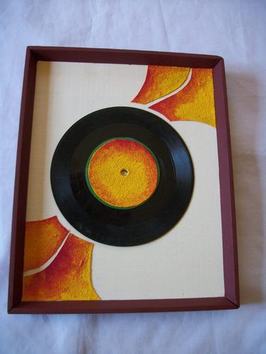 Cuadro, Disco De Vinilo ( Decoracion) Moderno - Rustico