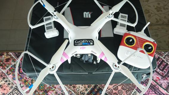 Drone Phanton 2 Nova Versão Gopro 3 H3-3d Case Bat Reserva