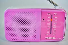 Radio Portatil Toshiba Tx-pr20-am/fm-lindo-lançam.-pink-rosa