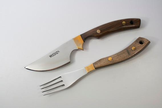 Juego Asado Artesanal Mission Cuchillo, Tenedor Vaina. M050