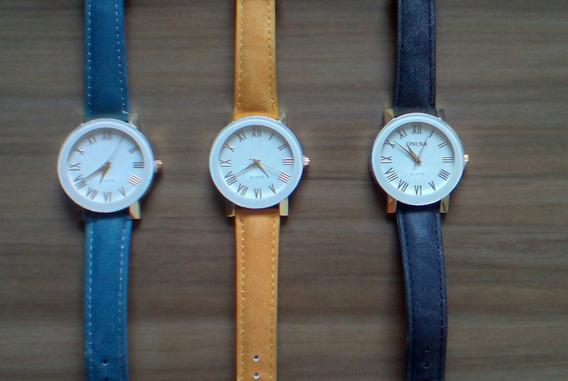 Relógios Femininos (pulseira De Couro)