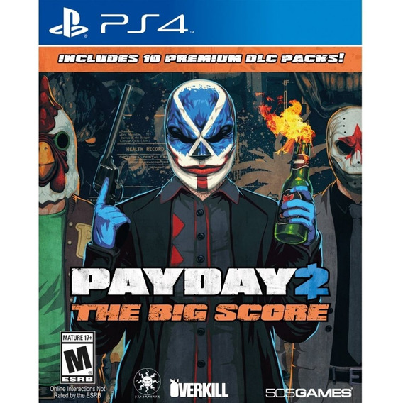 Payday 2 : The Big Score - Ps4 - Mídia Física - Lacrado - Nf