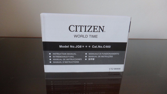 Manual Relógio Citizen World Time Jq8