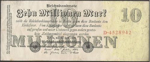 Imagen 1 de 1 de Alemania 10000000 Mark 25 Jul 1923 P96