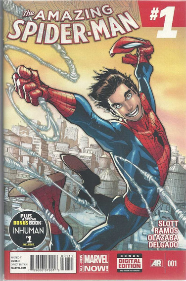 The Amazing Spider-man 01 All-new Marvel Bonellihq Cx192 G19