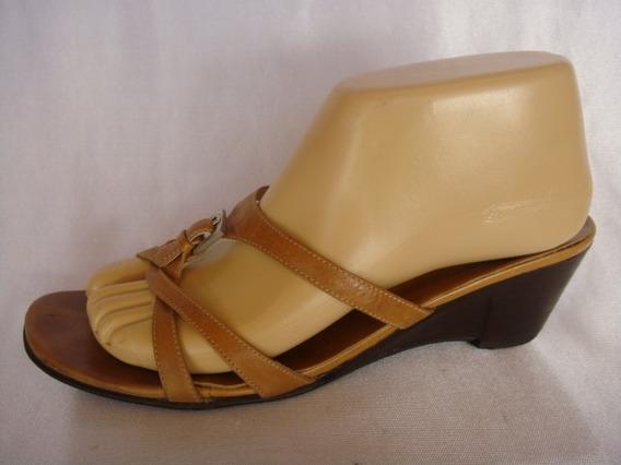 Clona Sandalias Nro:39 Color Marron Taco Chino