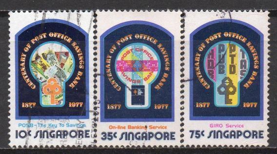 Cingapura - Centenário Banco Postal - 1977 - S/completa