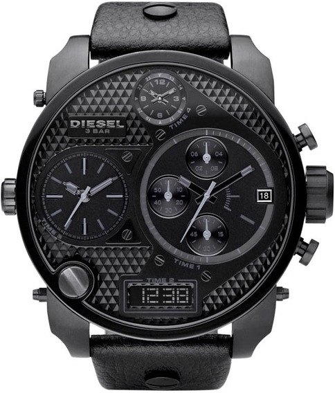 Relógio Diesel Dz7193 Big Daddy Black 57 Mm Original