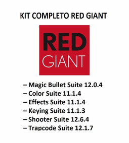 Red Giant Completo 2015(color, Effects, Bulet, Trapcode Etc)