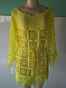 Saida De Praia/vestido Em Renda File